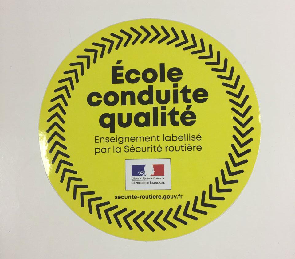 Label « École conduite qualité »